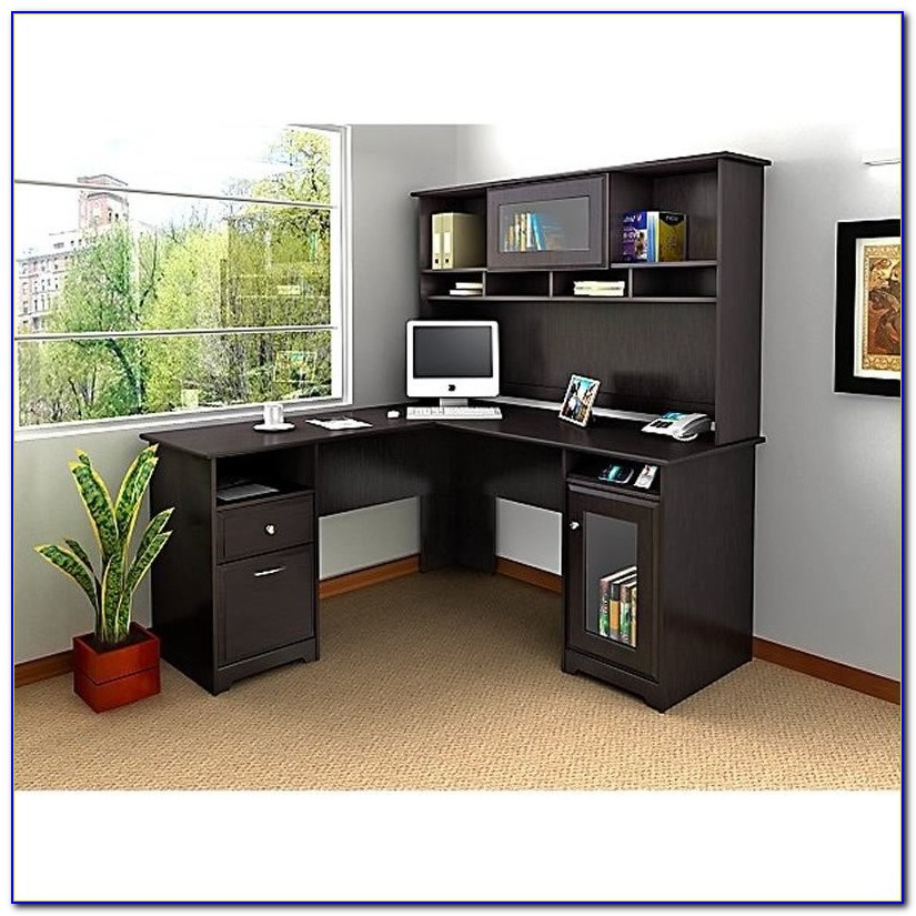 Bush Cabot 60 Corner Computer Desk With Hutch
