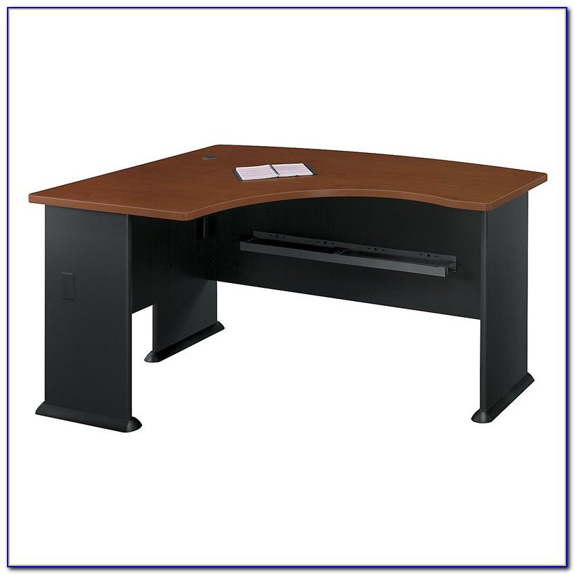 Bush Furniture Bow Front L Shaped Desk