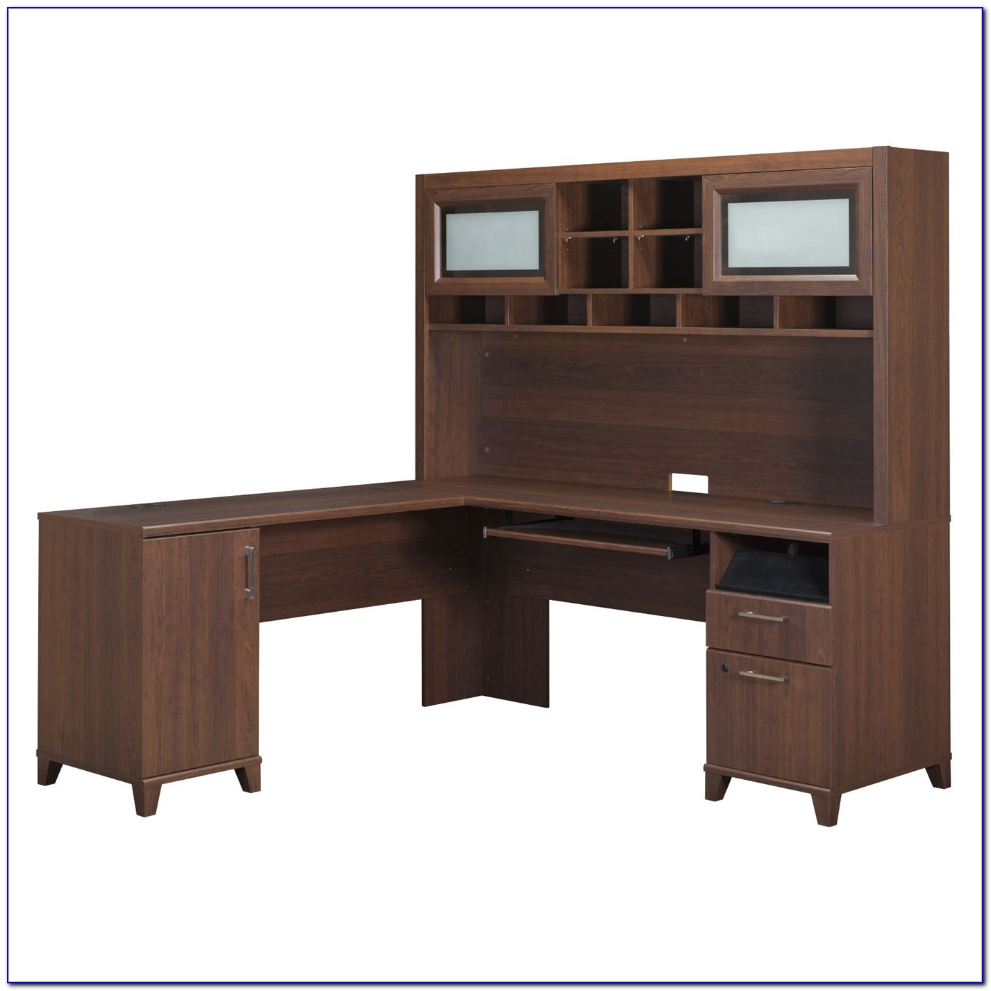 Bush Somerset L Shaped Desk With Hutch