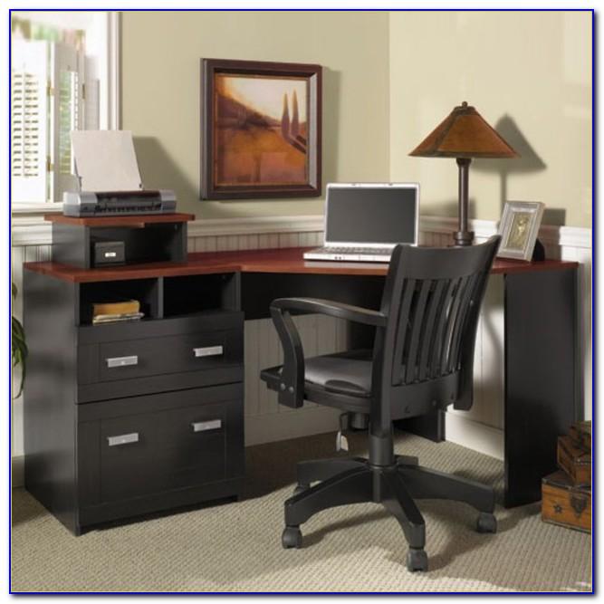 Bush Wheaton Corner Computer Desk Black And Cherry