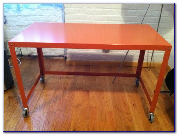 Cb2 Go Cart Desk Orange