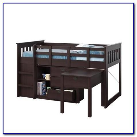 Charleston Loft Bed With Desk Natural