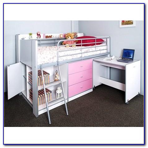 Charleston Loft Bed With Desk White