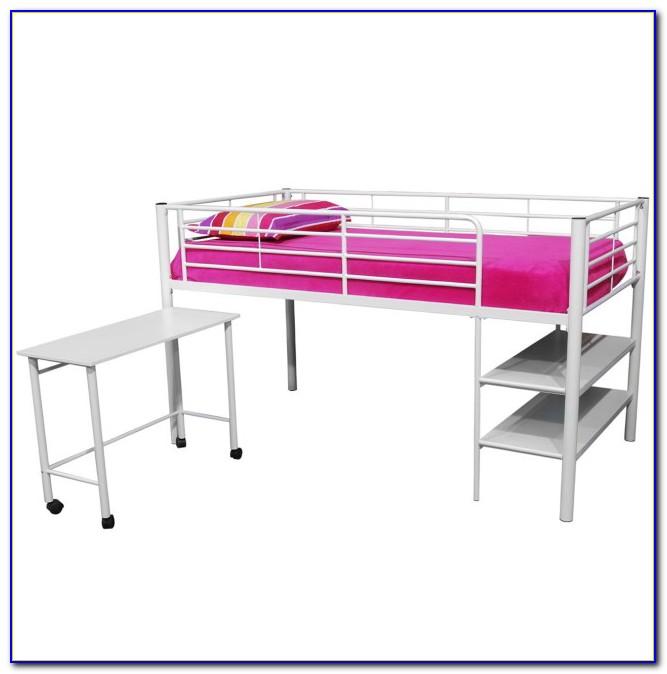 Charleston Storage Loft Bed With Desk White And Pink Carton 1