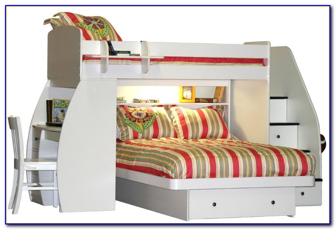 Charleston Storage Loft Bed With Desk White And Pink Carton 3