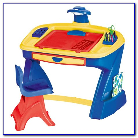 Children's Desk And Easel