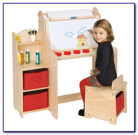 Children's Drawing Table With Paper Roll