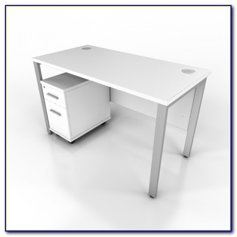 Compact Desk With Drawers