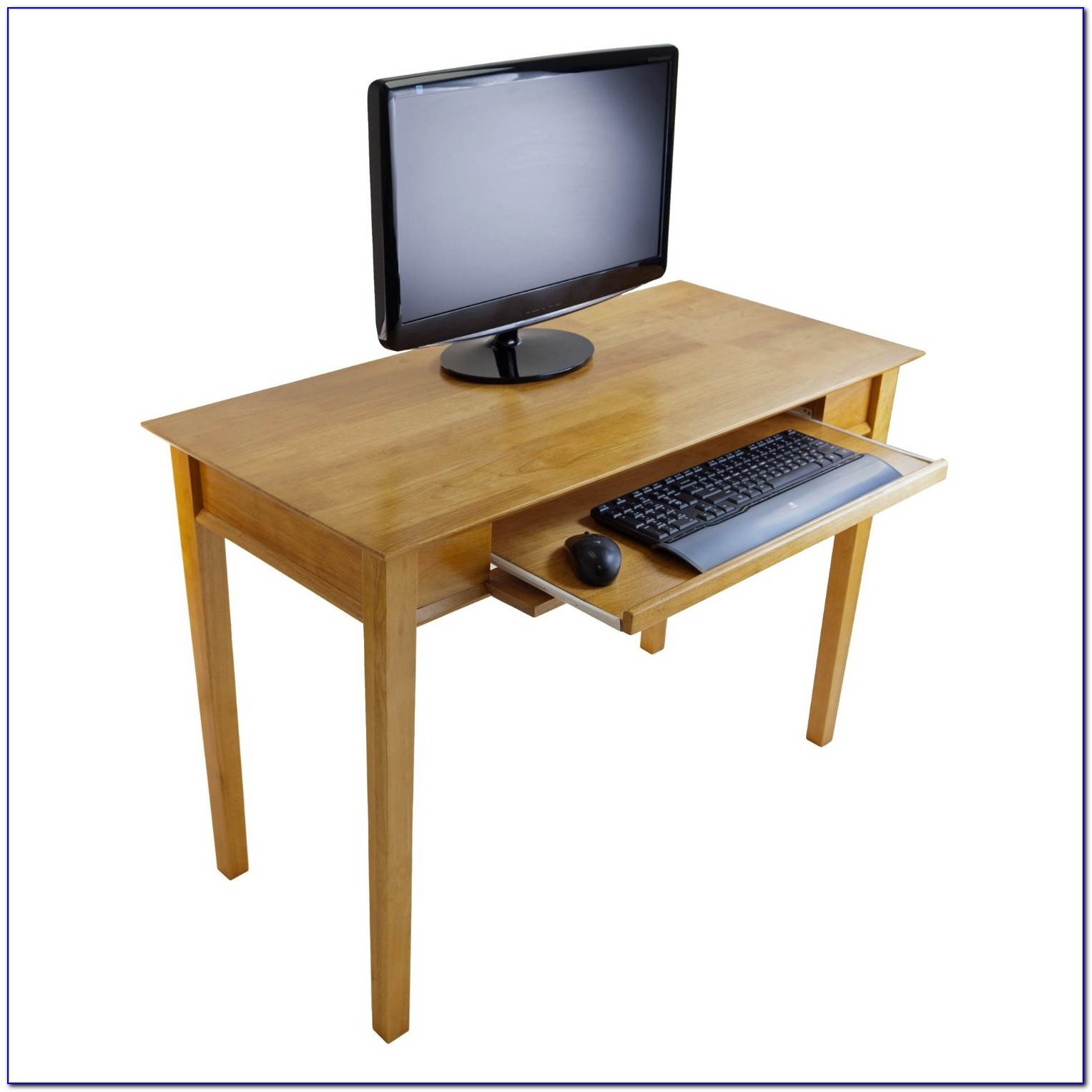 Compact Office Desk With Hutch