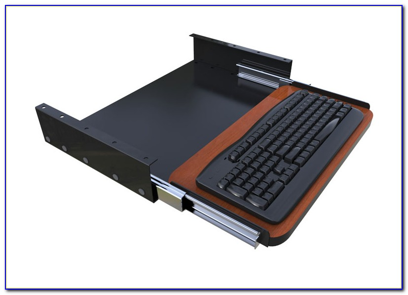 Computer Desk Slide Out Keyboard Tray