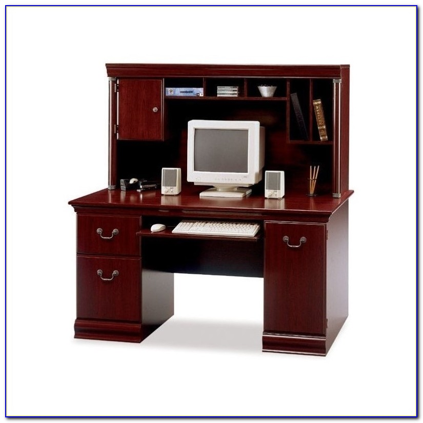 Computer Desk With A Hutch