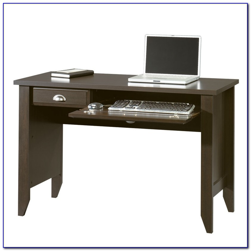 Computer Desk With Keyboard Tray Black