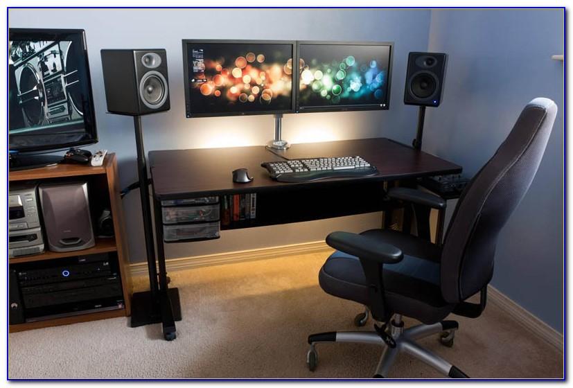 Corner Computer Desk 3 Monitors