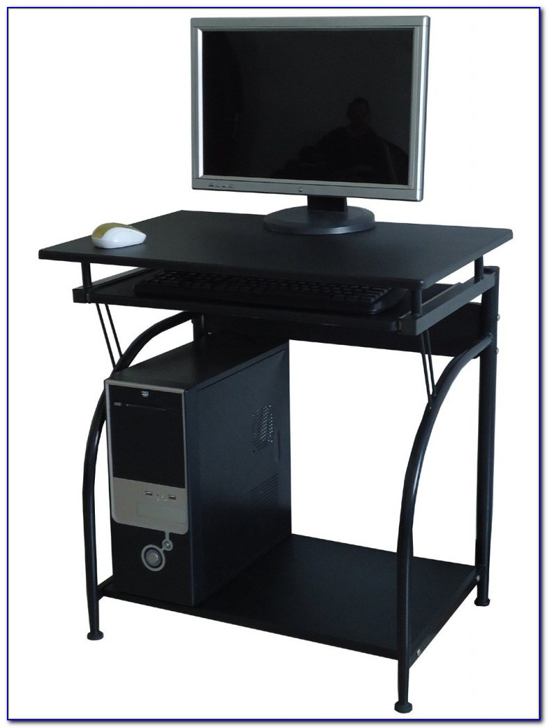 Corner Computer Desks With Keyboard Tray