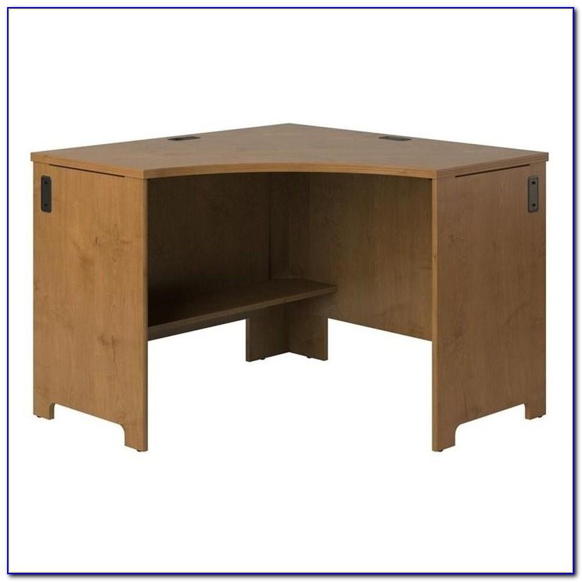 Dark Cherry Wood Corner Desk