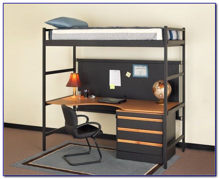 Double Murphy Bed Desk Combo