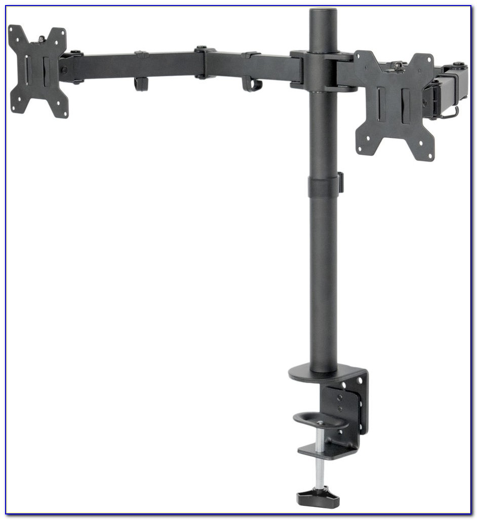 Dual Lcd Monitor Desk Mount Stand Heavy Duty