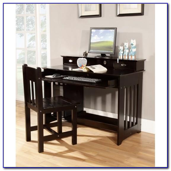 Espresso L Shaped Desk With Hutch