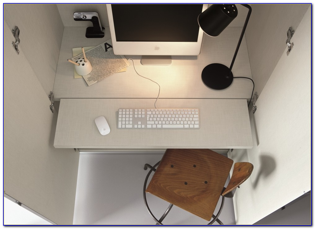 Fold Away Computer Wall Desk