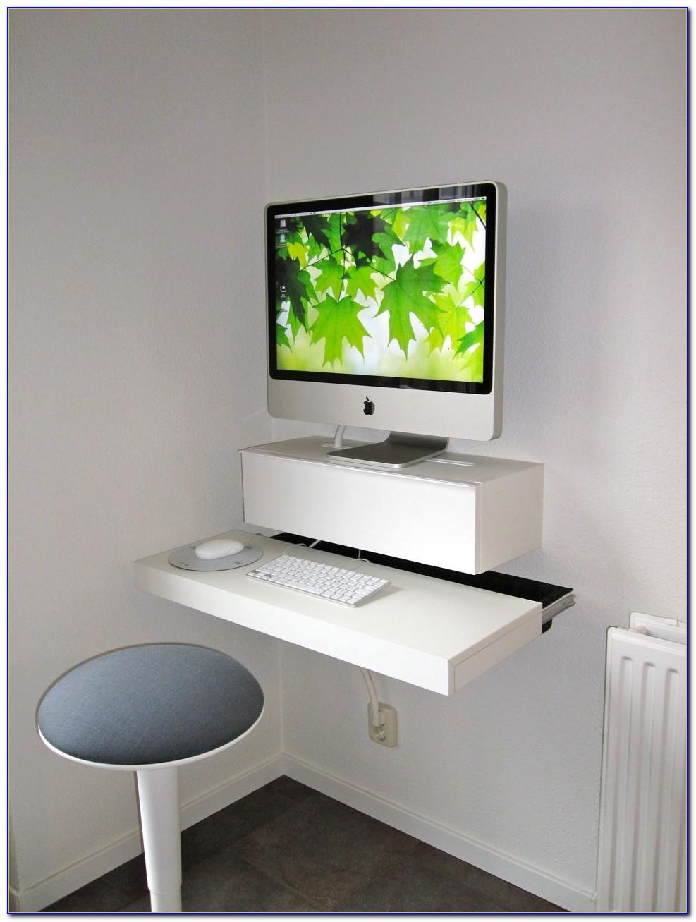 Hideaway Oak Computer Desk