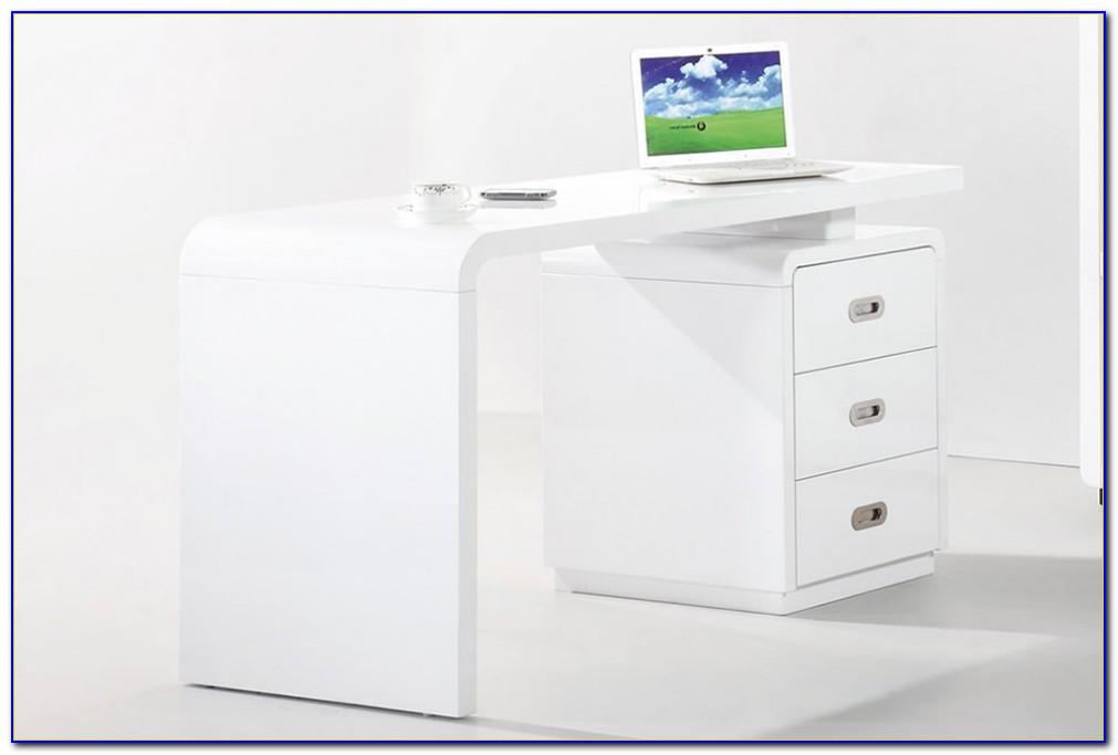 High Gloss White Office Desk