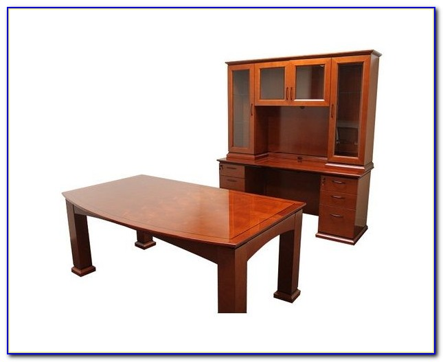Home Office Desk And Hutch Set