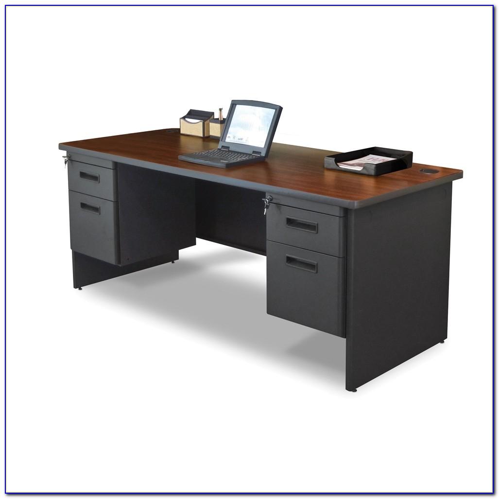 Hon 10500 Series U Shaped Desk Mahogany