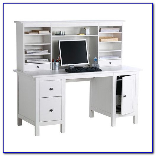 Ikea White Computer Desk With Hutch