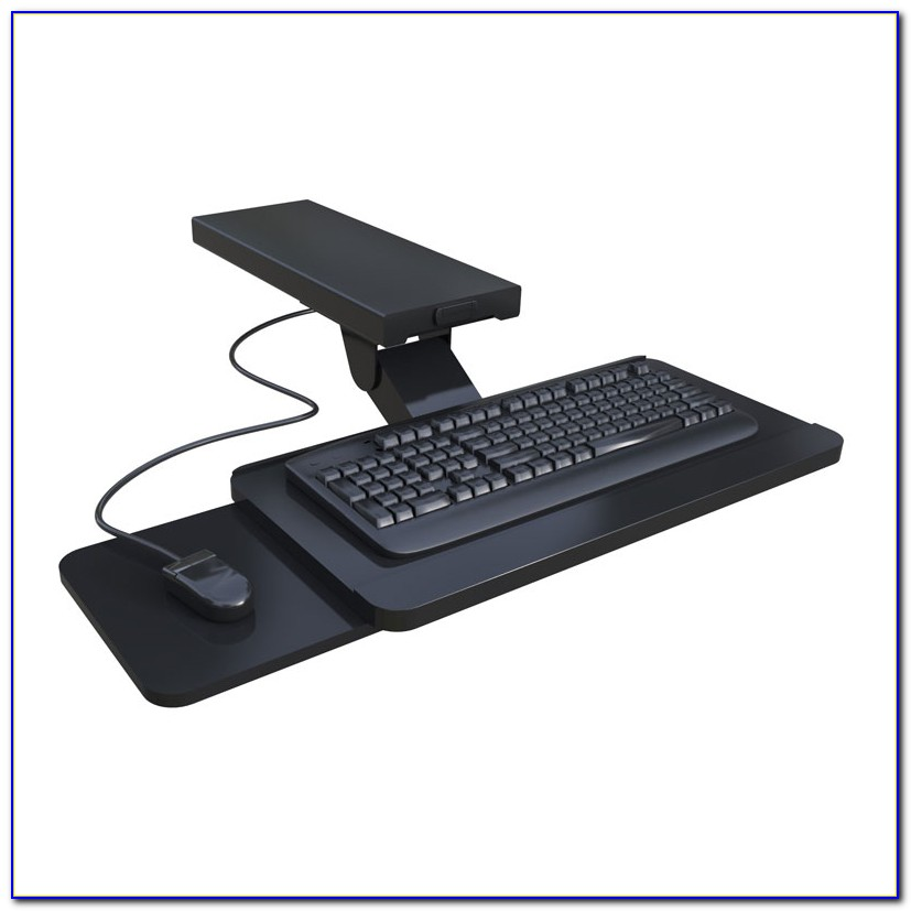 Keyboard And Mouse Tray Under Desk