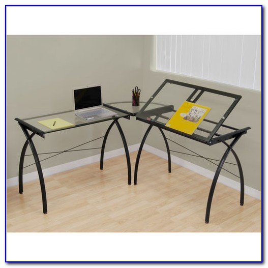 L Shaped Computer Drafting Table