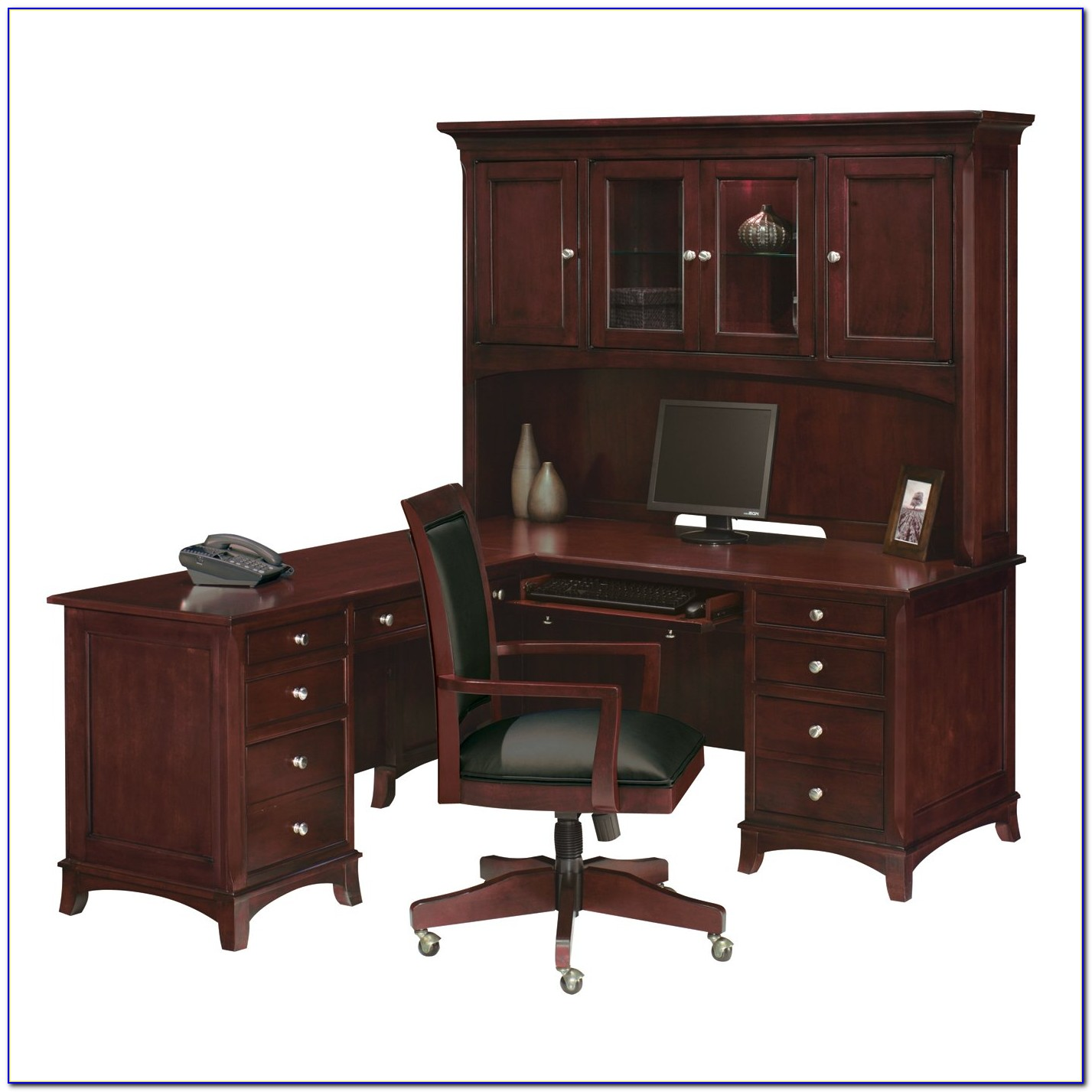 L Shaped Desk With Hutch And Drawers