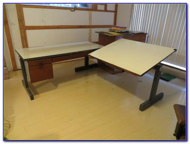 L Shaped Drafting Desk