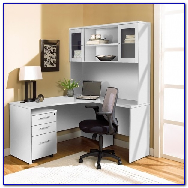 L Shaped Office Furniture With Hutch