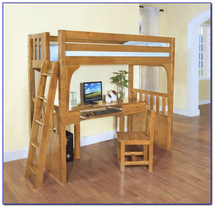 Loft Beds With Desk Underneath Plans