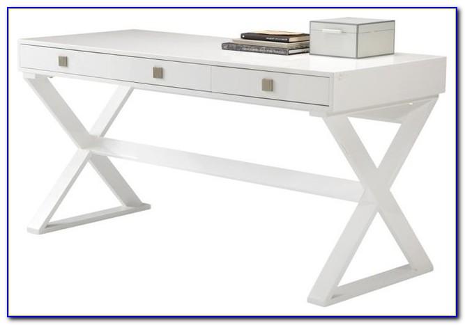 Luxor High Gloss White Office Desk