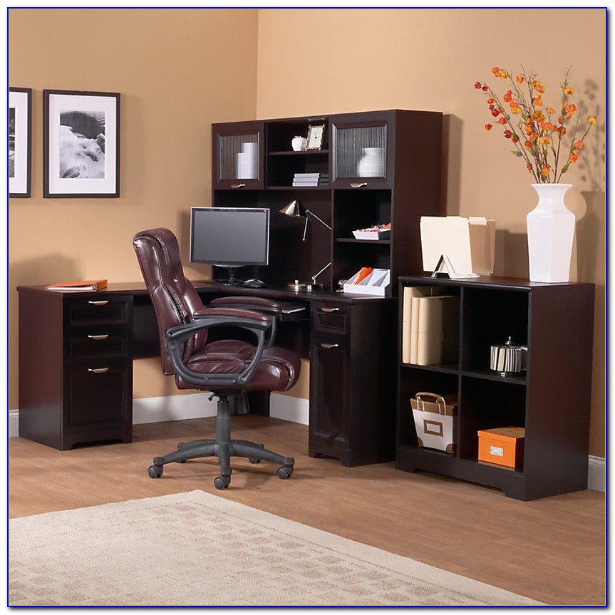 Magellan Collection L Shaped Desk & Hutch