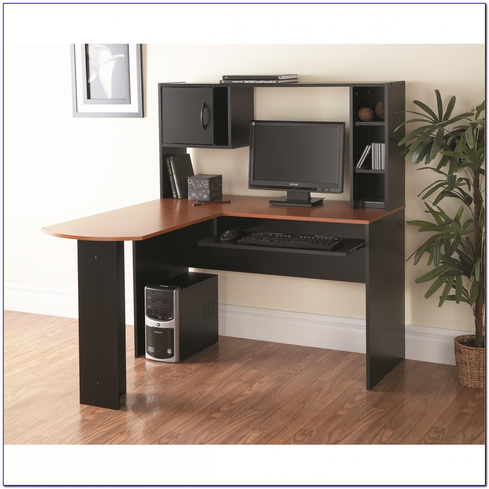 Magellan L Shaped Desk Hutch Bundle