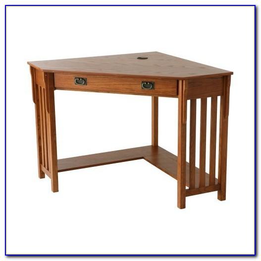 Mission Style Corner Desk With Hutch