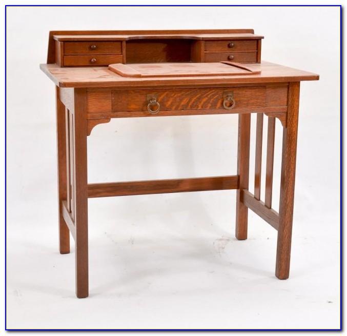 Mission Style Oak Writing Desk