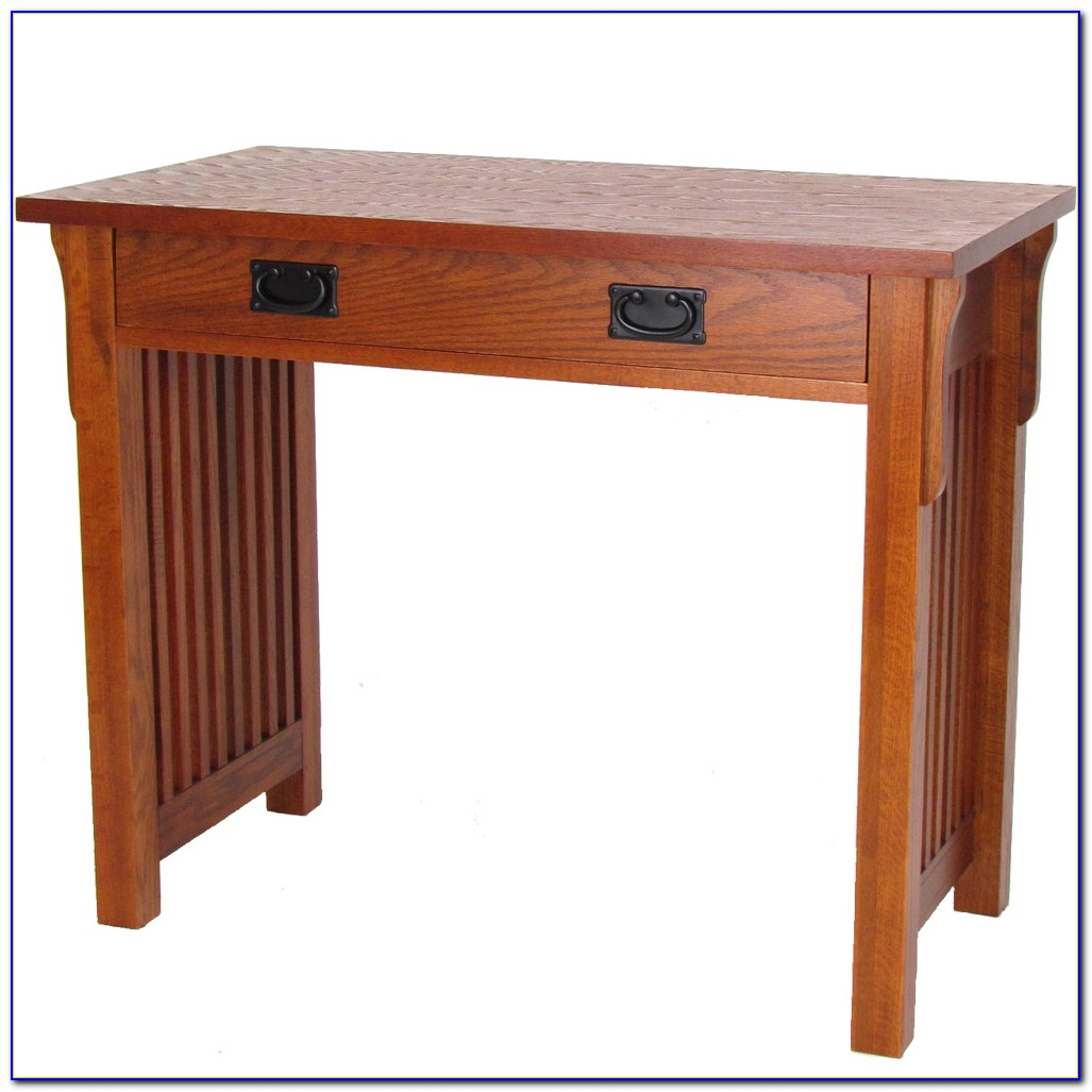 Mission Style Writing Desk With Hutch