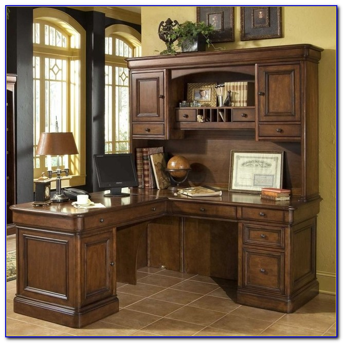 Office Desk With Hutch Staples