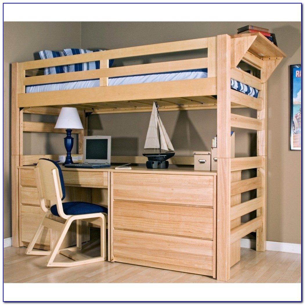 Queen Loft Bed Desk