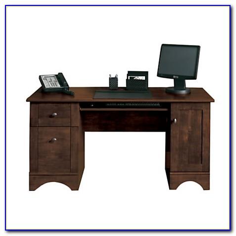Realspace Dawson Computer Desk Cinnamon Cherry