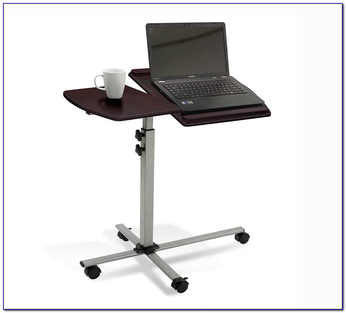 Rolling Mobile Adjustable Laptop Desk Cart