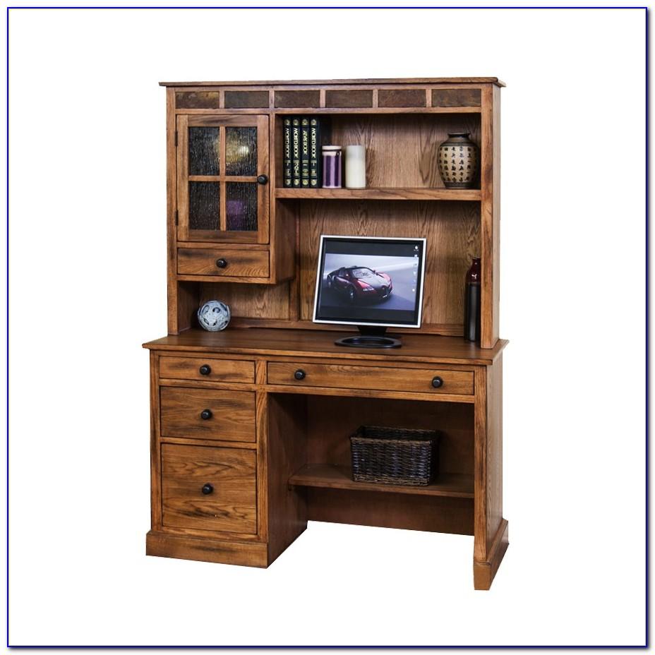 Rustic Corner Computer Desk With Hutch