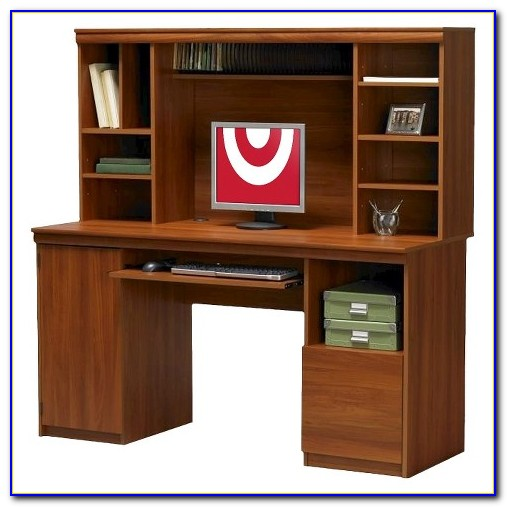 Sauder Cherry Computer Desk With Hutch