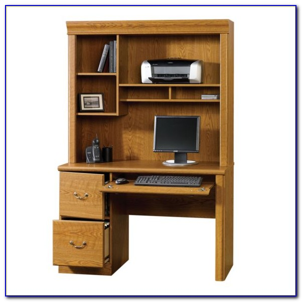 Sauder Orchard Hills Computer Desk Carolina Oak Finish