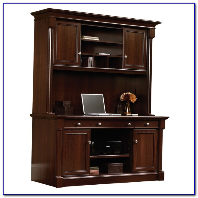 Sauder Orchard Hills Corner Computer Desk Carolina Oak Finish