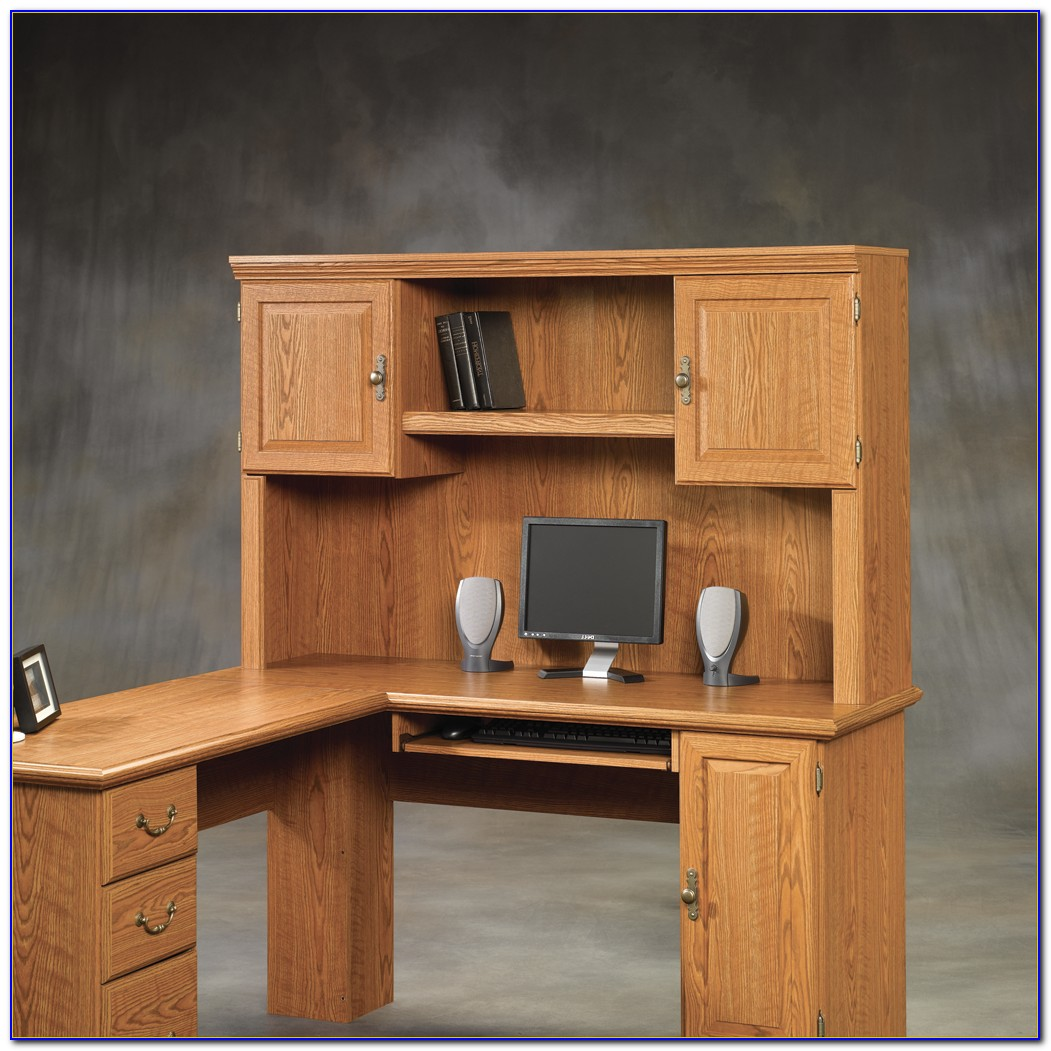 Sauder Orchard Hills L Shaped Computer Desk With Hutch