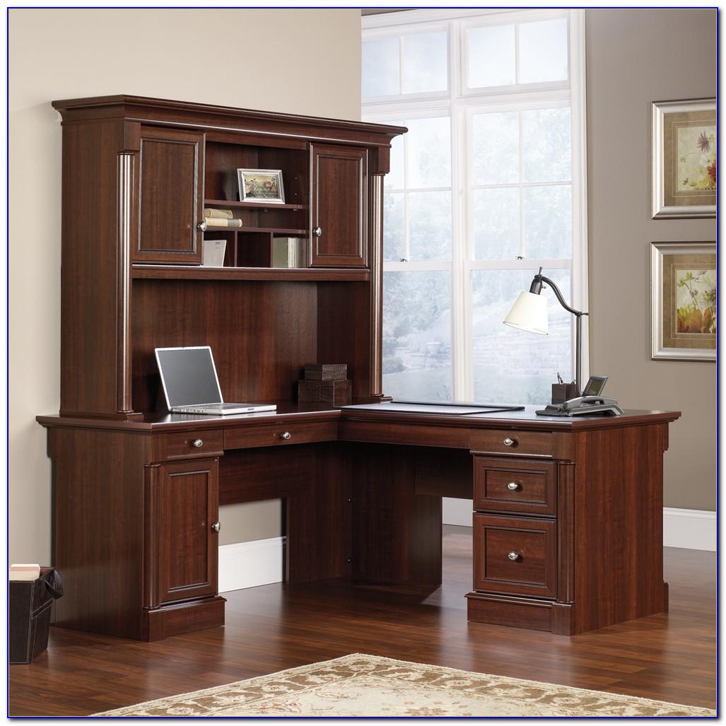 Sauder Palladia L Shaped Desk Vintage Oak